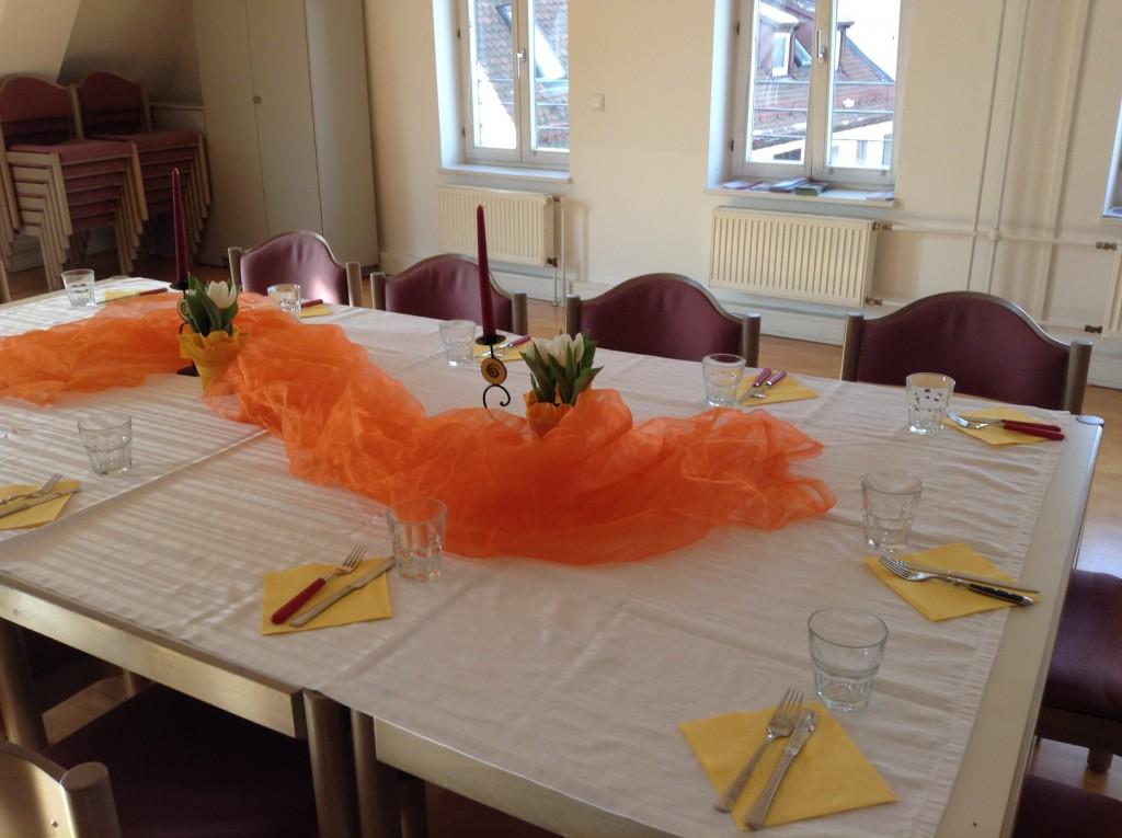 Samstagsbrunch - Der Tisch ist vorbereitet.